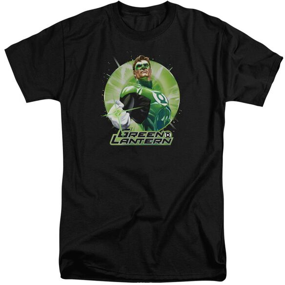 Jla Green Static Short Sleeve Adult Tall T-Shirt