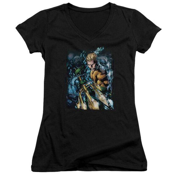 Jla Aquaman #1 Junior V Neck T-Shirt