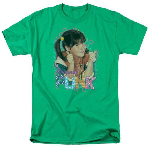 Punky Brewster Original Punk Short Sleeve Adult Kelly Green T-Shirt