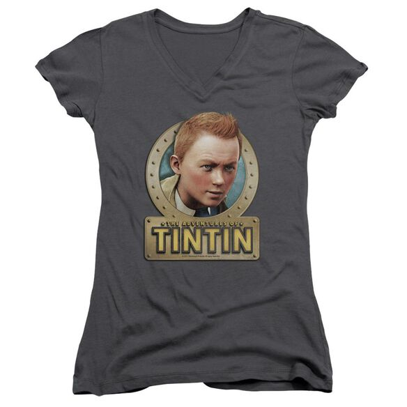 Tintin Metal Junior V Neck T-Shirt
