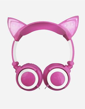 Gabba Goods Cat Ears LED Headphones [Pink]