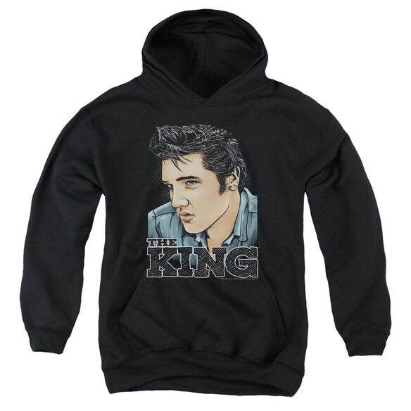 Elvis Graphic King Youth Pull Over Hoodie
