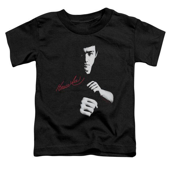 Bruce Lee The Dragon Awaits Short Sleeve Toddler Tee Black Sm T-Shirt