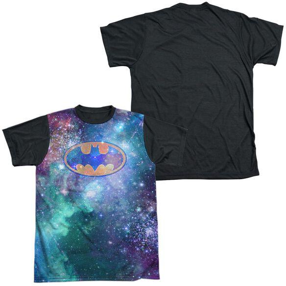 Batman Galaxy Symbol Short Sleeve Adult Front Black Back T-Shirt