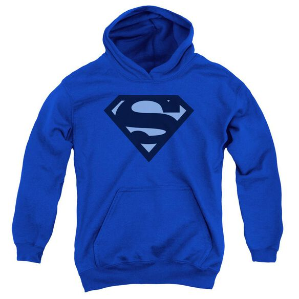 Superman Shield Youth Pull Over Hoodie Royal