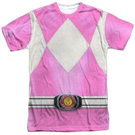 Power Rangers Pink Ranger Short Sleeve Adult Poly Crew T-Shirt