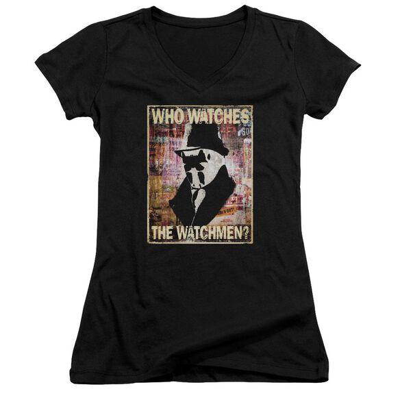 Watchmen Who Watches Junior V Neck T-Shirt