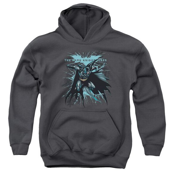 Dark Knight Rises Blue Crackle Youth Pull Over Hoodie