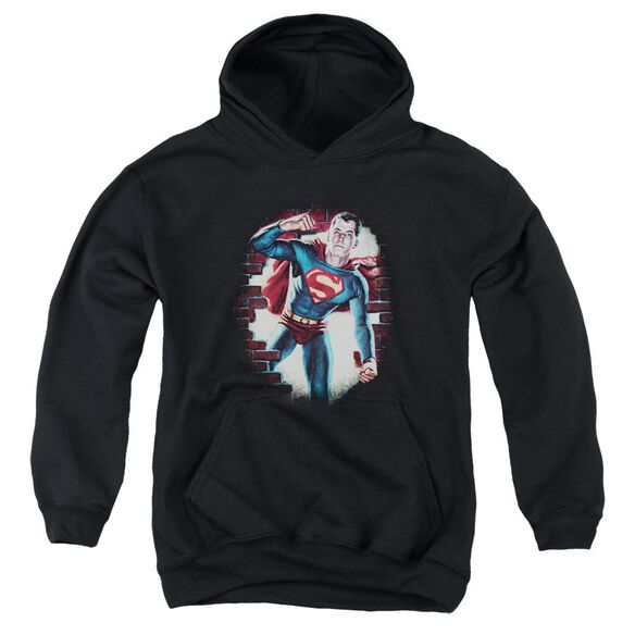 Superman Vintage Steel Youth Pull Over Hoodie