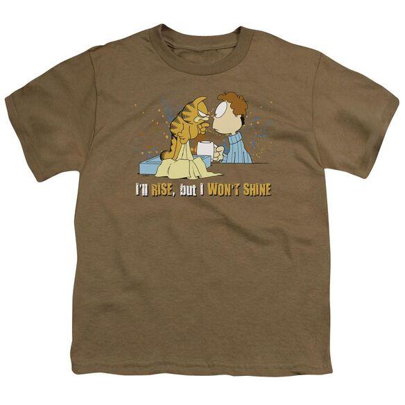 Garfield I'll Rise Short Sleeve Youth Safari T-Shirt