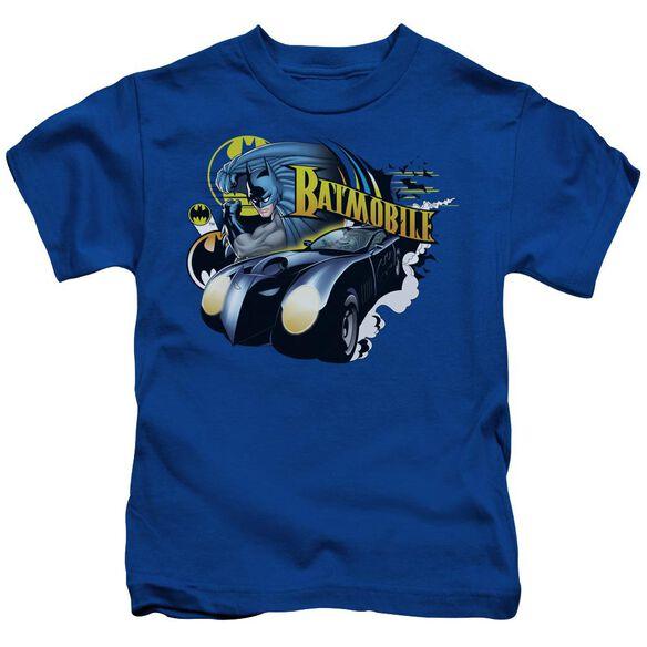 Batman Batmobile Short Sleeve Juvenile Royal Blue T-Shirt