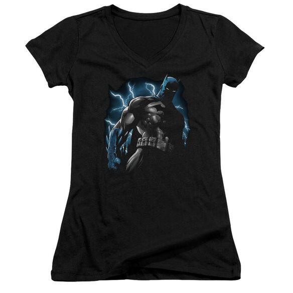 Batman Gotham Lightning Junior V Neck T-Shirt