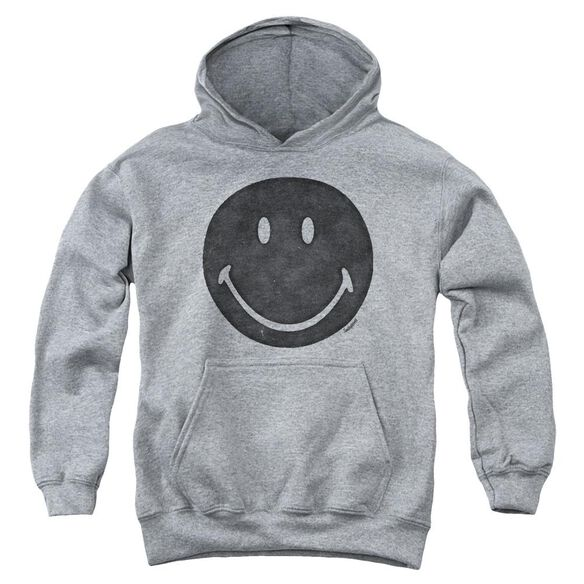 Smiley World Rough Face Youth Pull Over Hoodie Athletic
