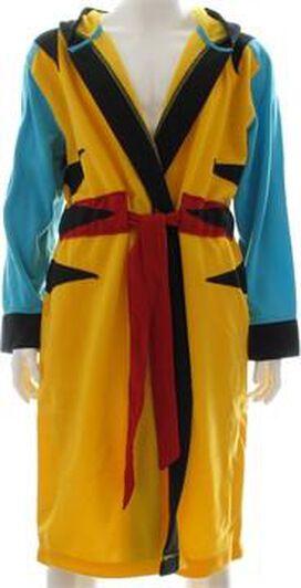 X Men Wolverine Yellow Costume Hooded Fleece Robe