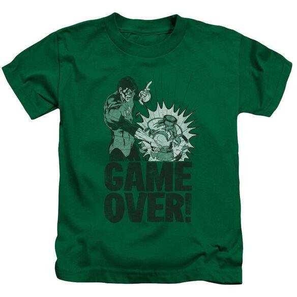 Green Lantern Game Over Short Sleeve Juvenile Kelly Green T-Shirt