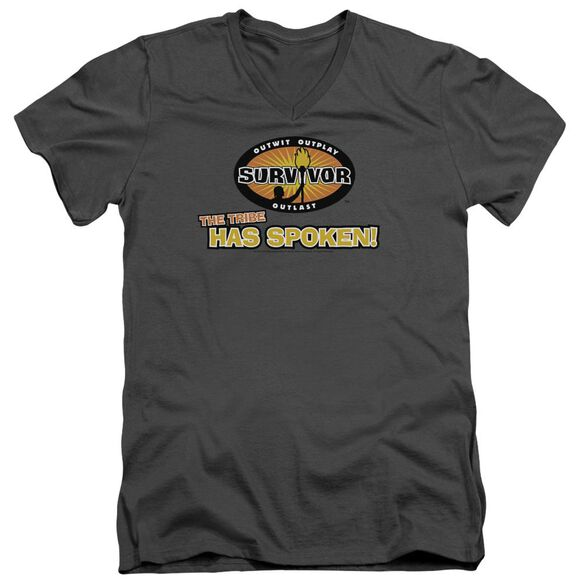 Survivor Tribe Has Spoken Short Sleeve Adult V Neck T-Shirt