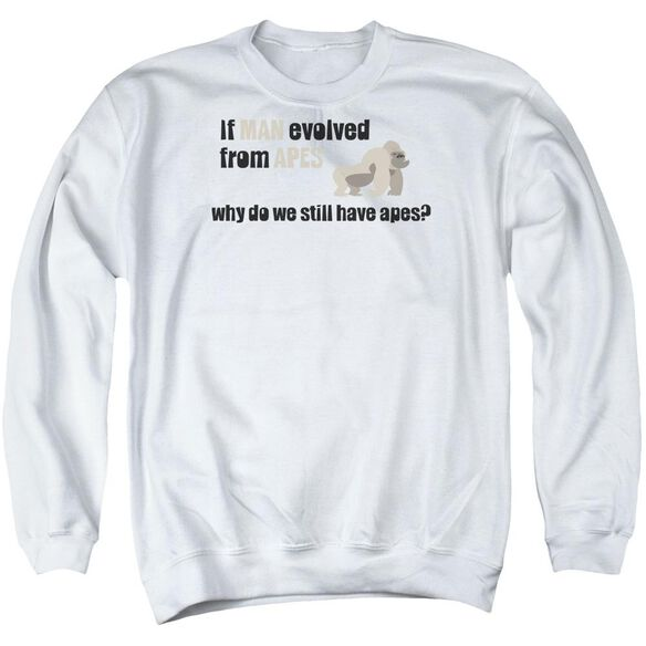 Evolved From Apes Adult Crewneck Sweatshirt