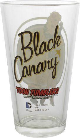 Black Canary Bombshell Toon Tumbler Pint Glass