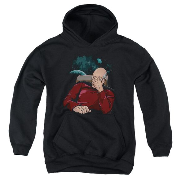 Star Trek Facepalm Youth Pull Over Hoodie