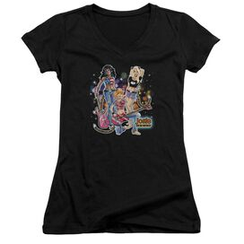 Archie Comics Pussycats Rock Junior V Neck T-Shirt