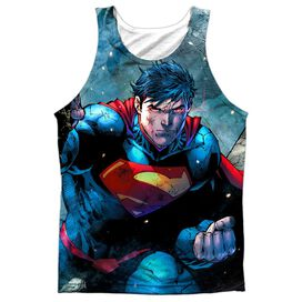 Superman Rumble Adult 100% Poly Tank Top