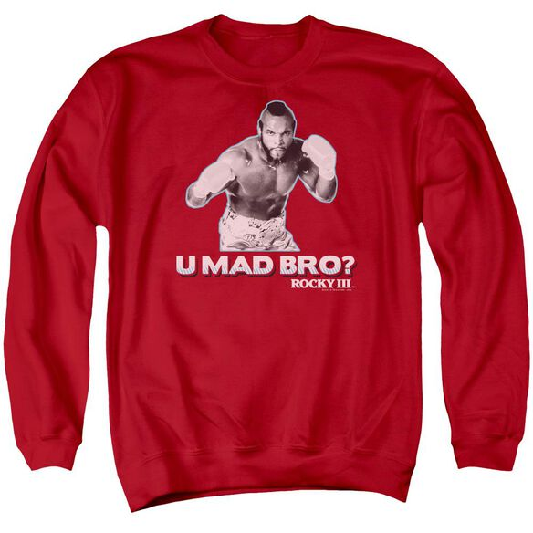 Rocky Iii U Mad Bro Adult Crewneck Sweatshirt