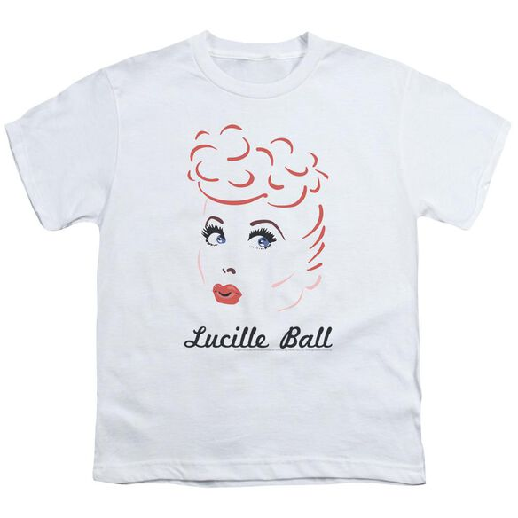 Lucille Ball Drawing Short Sleeve Youth T-Shirt