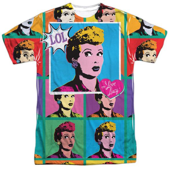 I Love Lucy Lol Short Sleeve Adult Poly Crew T-Shirt