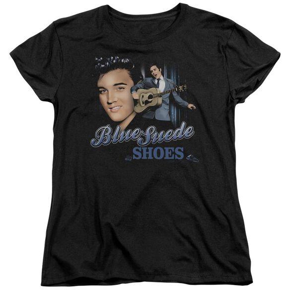 Elvis Presley Blue Suede Shoes Short Sleeve Womens Tee T-Shirt