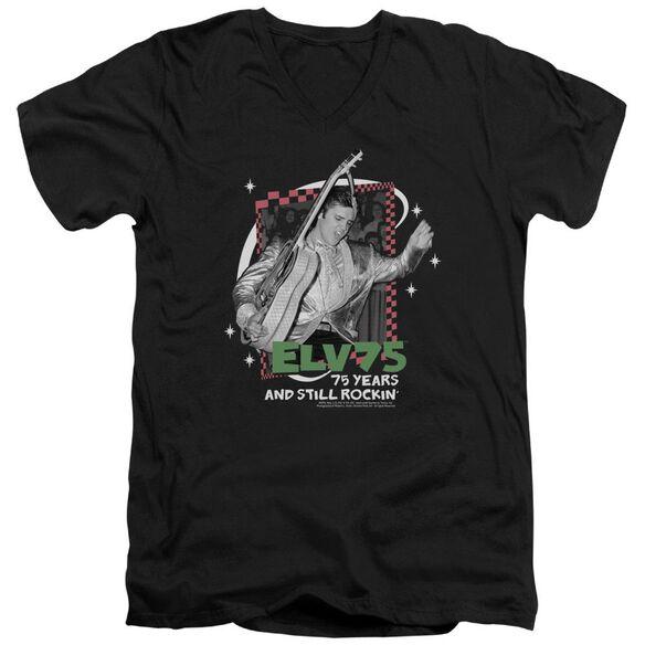 Elvis Still Rockin Short Sleeve Adult V Neck T-Shirt