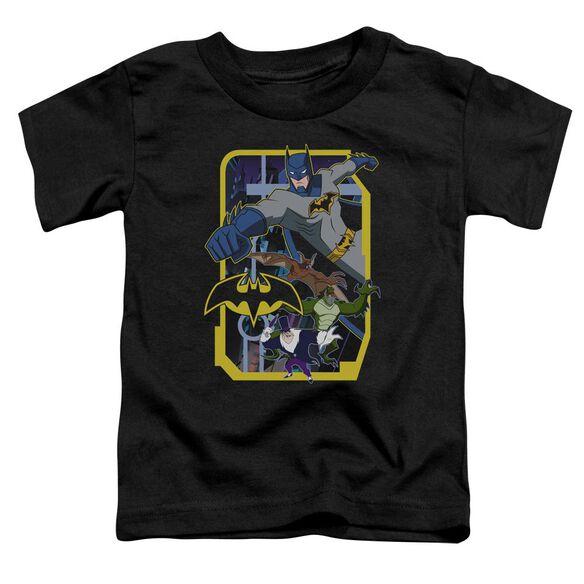Batman Unlimited Unlimited Villains Short Sleeve Toddler Tee Black T-Shirt