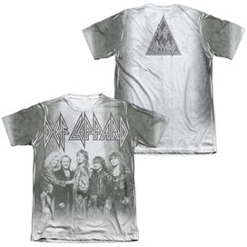 Def Leppard The Band (Front Back Print) Adult Poly Cotton Short Sleeve Tee T-Shirt