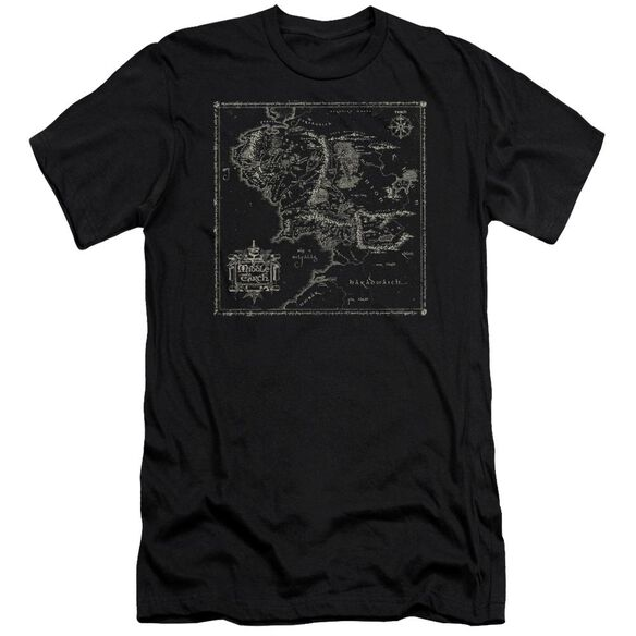 Lord Of The Rings Map Of Me Short Sleeve Adult T-Shirt