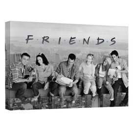 Friends Break Time Canvas Wall Art With Back Board