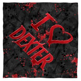 Dexter I Heart Dexter Bandana White