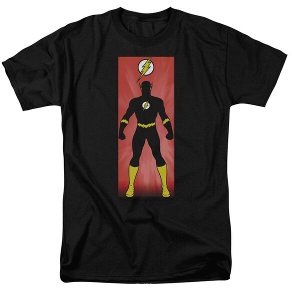 Jla Flash Block Short Sleeve Adult T-Shirt