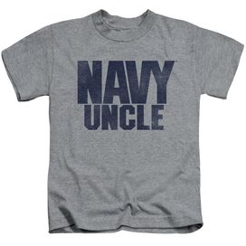 Navy Uncle Short Sleeve Juvenile Athletic Heather T-Shirt