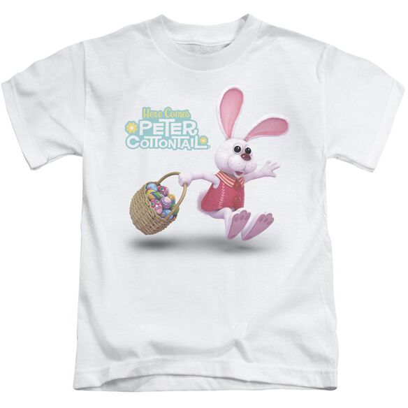 Here Comes Peter Cottontail Hop Around Short Sleeve Juvenile White T-Shirt