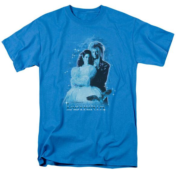 Labyrinth Peach Dreams Short Sleeve Adult Turquoise T-Shirt