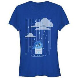 Inside Out Sadness Rain Juniors T-Shirt