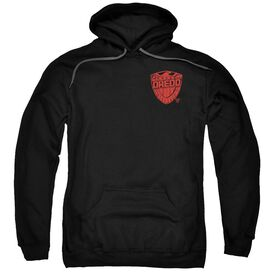 Judge Dredd Badge Adult Pull Over Hoodie