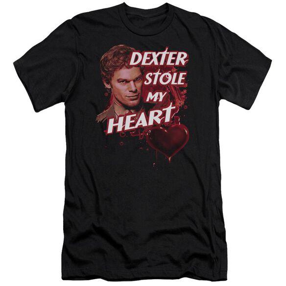 DEXTER BLOODY HEART - S/S ADULT 30/1 - BLACK T-Shirt