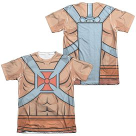 Masters Of The Universe He Man Costumes (Front Back Print) Adult Poly Cotton Short Sleeve Tee T-Shirt