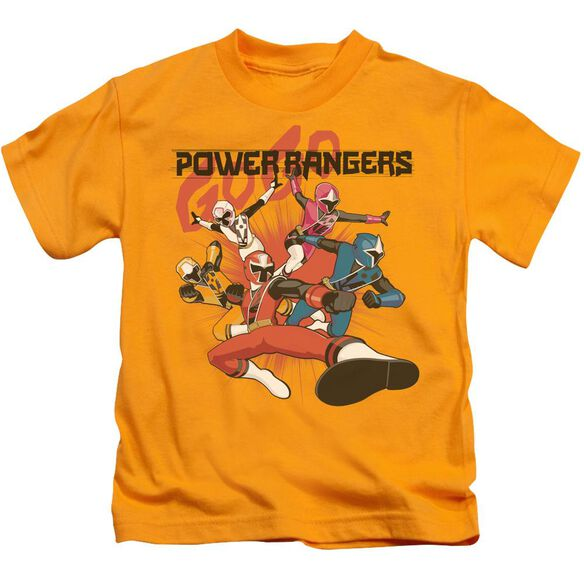 Power Rangers Attack Short Sleeve Juvenile Gold T-Shirt