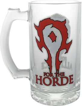 World of Warcraft Horde Alliance Stein Glass Mug