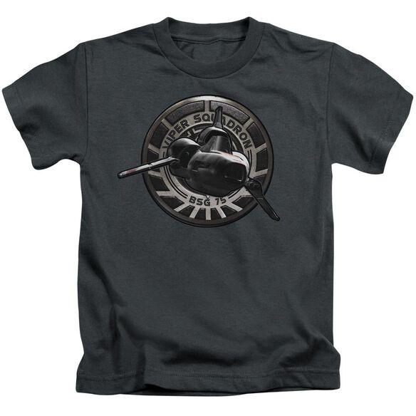 Bsg Viper Squadron Short Sleeve Juvenile Charcoal T-Shirt