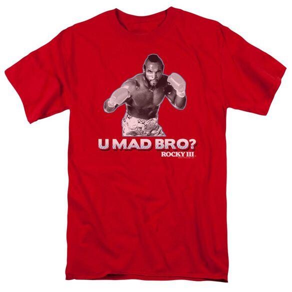Rocky Iii U Mad Bro Short Sleeve Adult Red T-Shirt