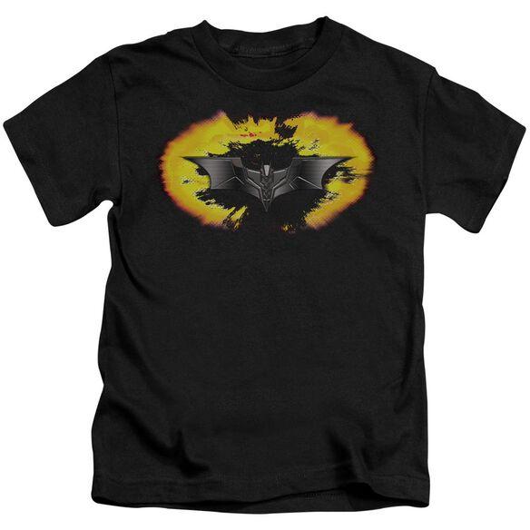 Dark Knight Armor Logo Explosion Short Sleeve Juvenile T-Shirt