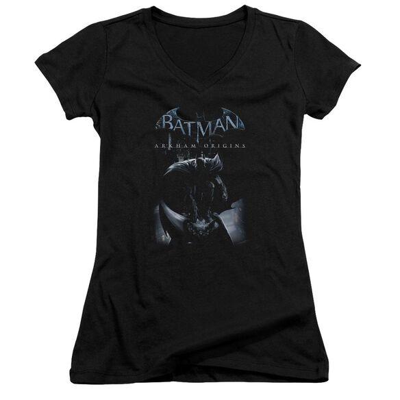 Batman Arkham Origins Perched Cat Junior V Neck T-Shirt