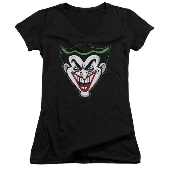 Batman Bb Animated Joker Head Junior V Neck T-Shirt